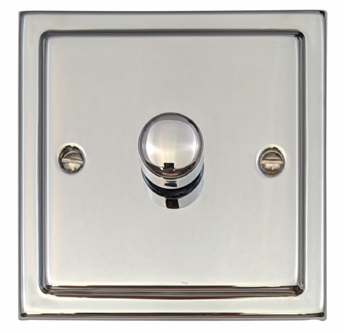 G&H TC11 Trimline Plate Polished Chrome 1 Gang 1 or 2 Way 40-400W Dimmer Switch